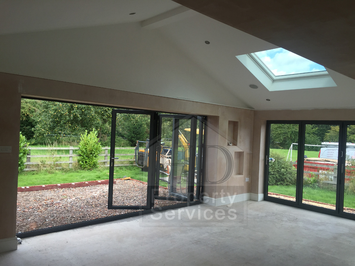 Kitchen Family Room Extension With Bi Fold Doors