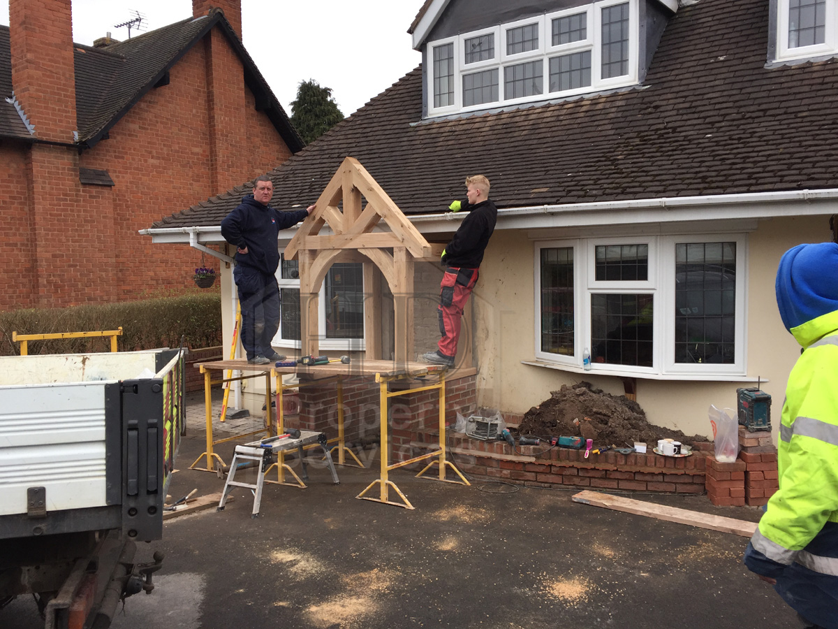 New front doorway with gabled canopy porch photo 7 & Before and after photos. New front doorway with gabled canopy ...