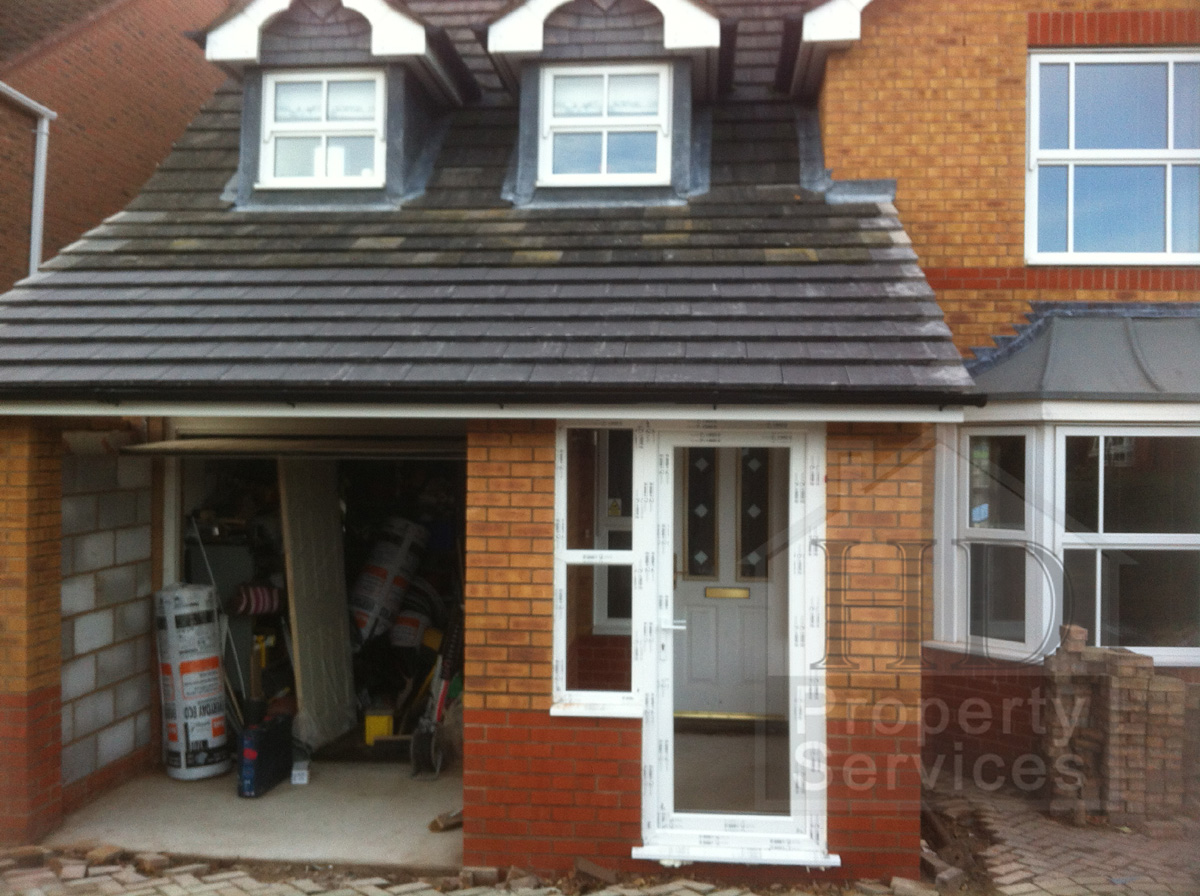 Before and after photos porch garage extension with a for Garage portico