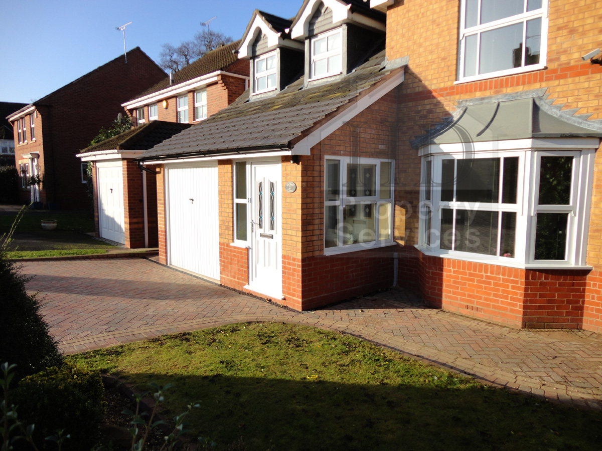 Before and after photos porch garage extension with a for Garage extension ideas