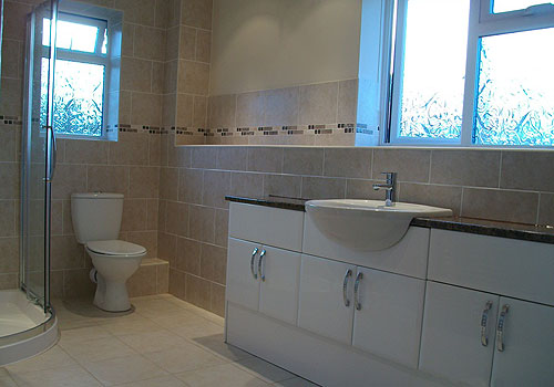 after photo of new bathroom installation - Bathroom Tiles Redditch