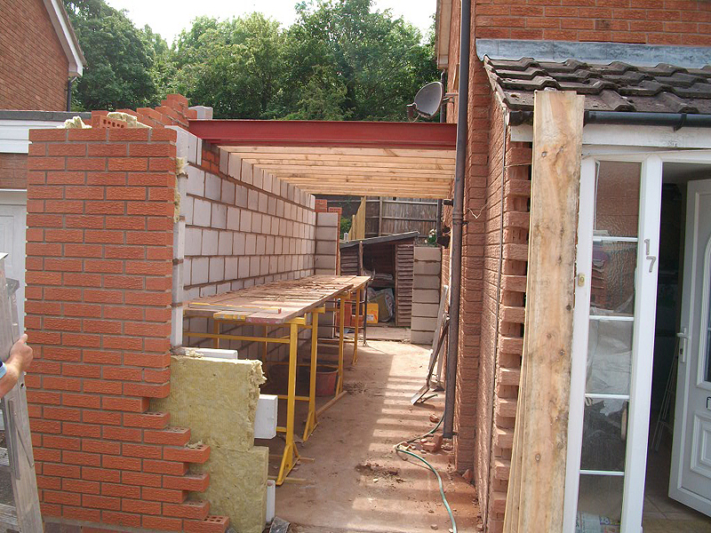 Front Elevation Extension : Double storey extension building construction diary before