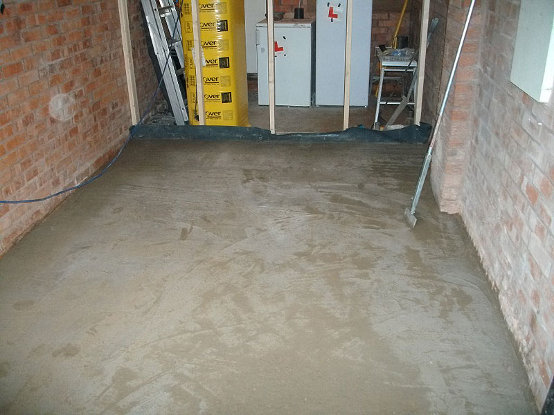 Garage conversion floor insulation house conversions for Concrete floor insulation