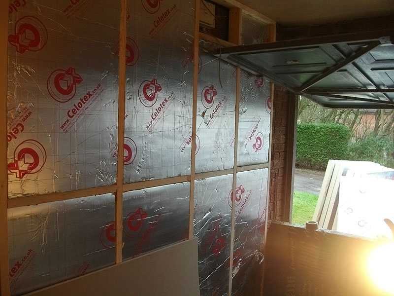 Insulation In Place Wooden Framework