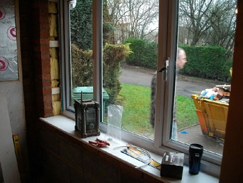The new FENSA approved upVC double glazed window is installed