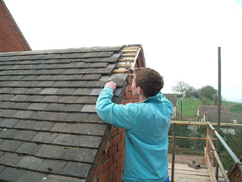 Tiling the roof