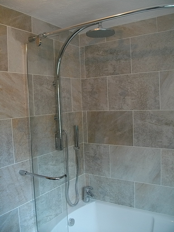 Bath Shower Rail new bathroom fitted in redditch photos of completed designer bathroom