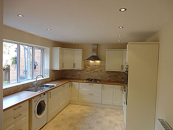New kitchen construction diary before and after photos - How to get your kitchen ceiling lights right ...