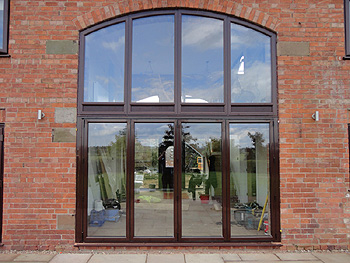 The newly fitted windows & spectacular bi-fold doors