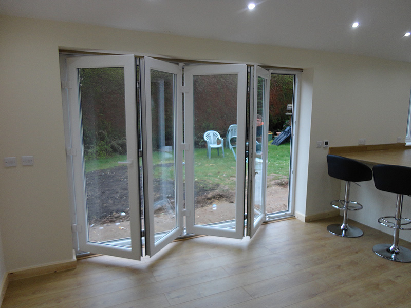 The UPVC Bi Fold Doors Half Open